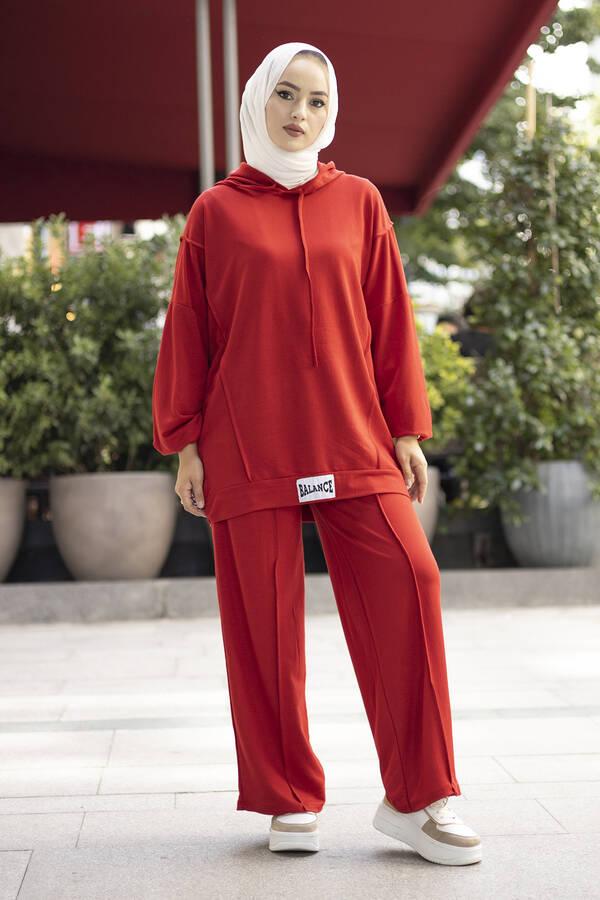 Rahat Kesim Eşofman Takımı Kırmızı