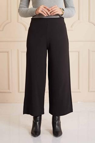 TA - Rahat Kesim Kumaş Pantolon 460TA064 Siyah (1)