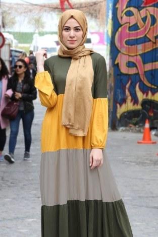 - Renk Katmanlı Elbise 5489-06 (1)