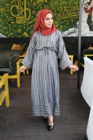 - Çizgili elbise 03968-01