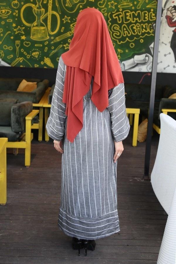 Çizgili elbise 03968-01