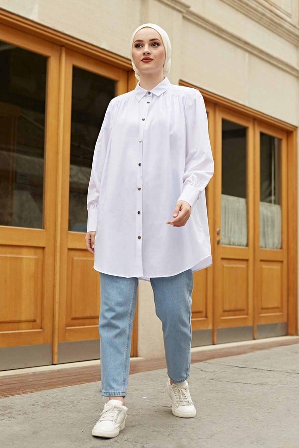 Roba Görünümlü Gömlek 160SAG3059 Beyaz