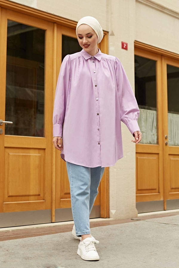Roba Görünümlü Gömlek 160SAG3059 Lila