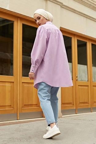 Roba Görünümlü Gömlek 160SAG3059 Lila - Thumbnail