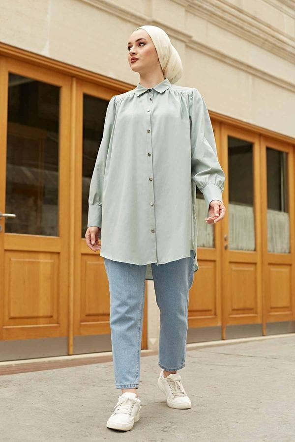 Roba Görünümlü Gömlek 160SAG3059 Mint