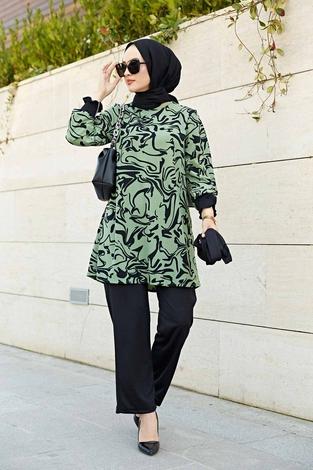 Rosella Takım 100MD-10395 Çağla Yeşili - Thumbnail