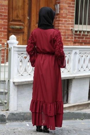 Saçaklı Abaya 1788-03 - Thumbnail