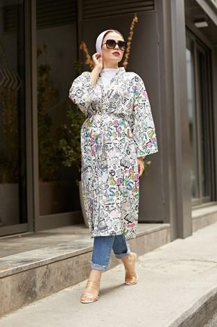 - SAG Desenli Kimono 9213-3