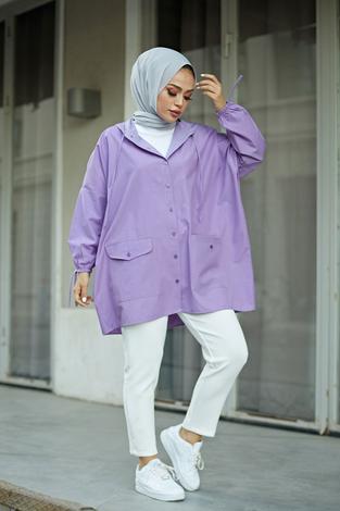 - SAG Hood Spor Gömlek 8944-11 Lila
