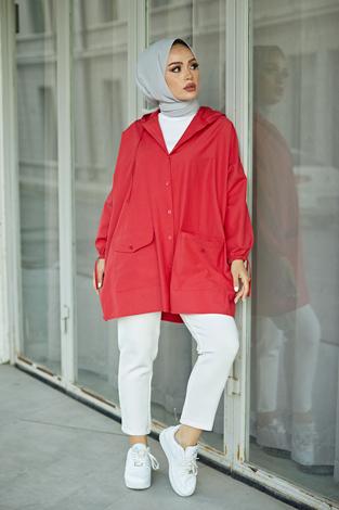 - SAG Hood Spor Gömlek 8944-7 Kırmızı