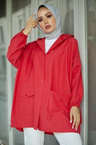 - SAG Hood Spor Gömlek 8944-7 Kırmızı (1)