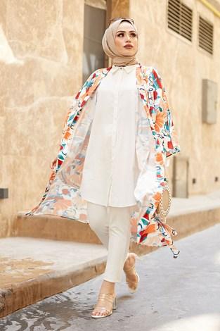 - SAG Orange Kimono 9213-1