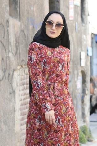 - Şal Desenli Elbise 5610-02 (1)