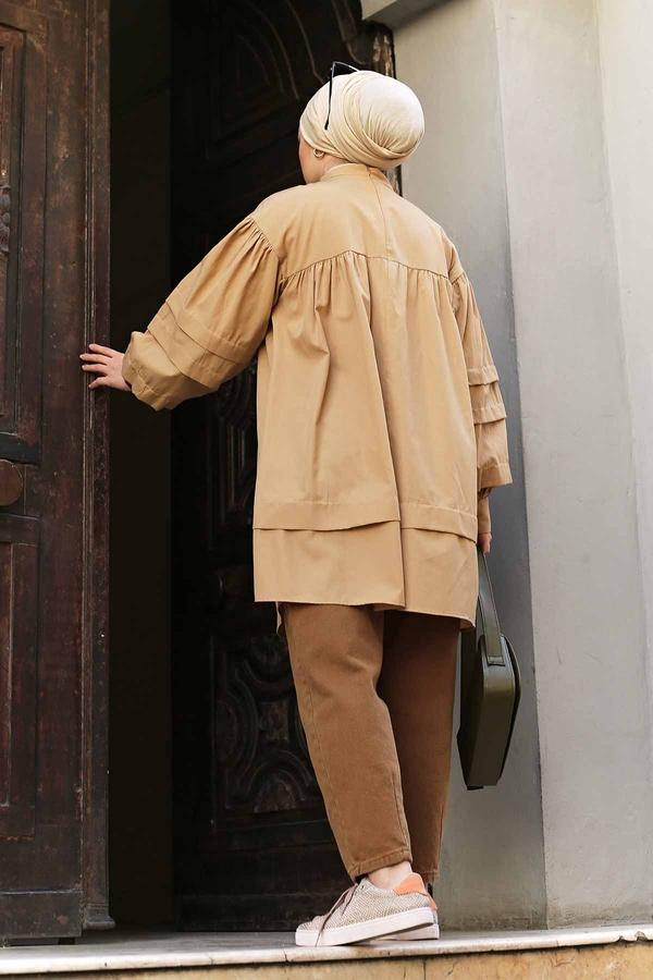 Salaş Poplin Gömlek 190E1402 Camel