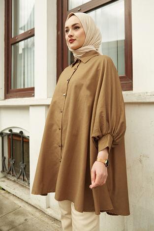 Salaş Tunik 100MD10191 Hardal - Thumbnail