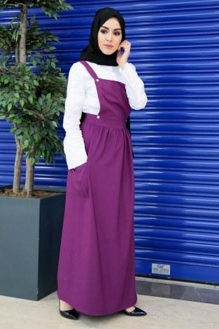 Salopet Elbise 5065-10 - Thumbnail