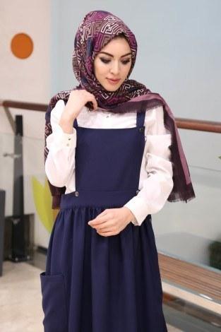 - Salopet Elbise 5065-5-lacivert