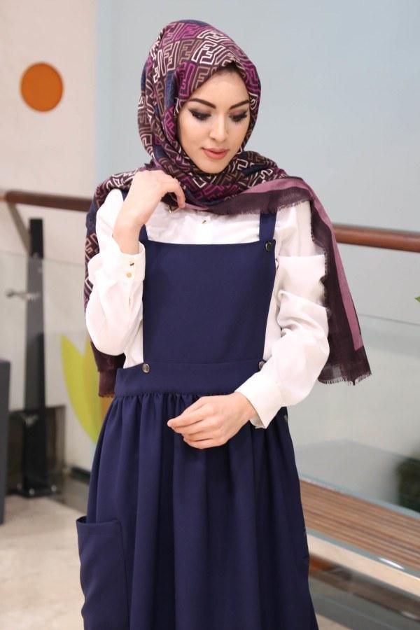 Salopet Elbise 5065-5-lacivert