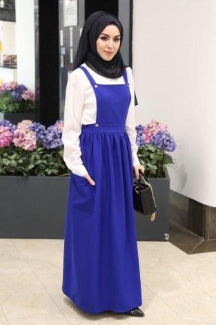 Salopet Elbise 5065-1 - Thumbnail