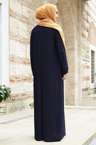 Sandy Ferace Elbise 190E-6730 Lacivert - Thumbnail