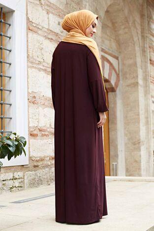 Sandy Ferace Elbise 190E-6730 Şarabi - Thumbnail