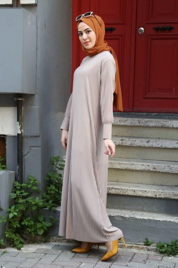 SBH Boydan Piliseli Elbise 8380-15