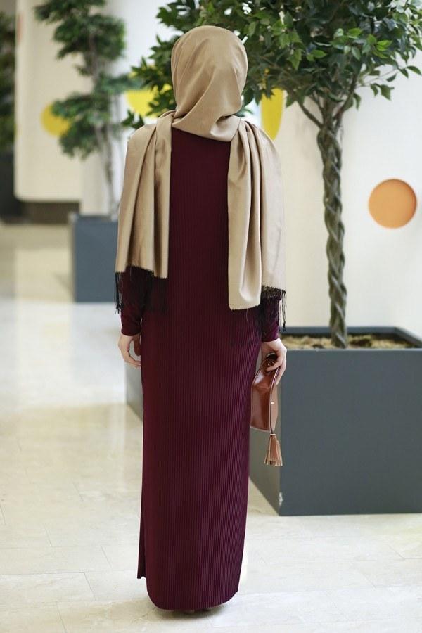 SBH Boydan Piliseli Elbise 8380-3