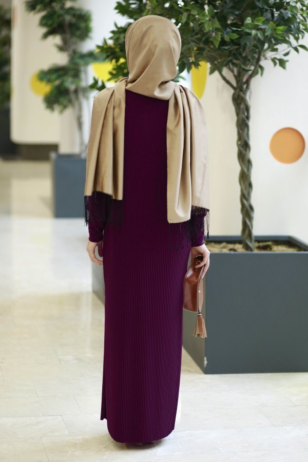 SBH Boydan Piliseli Elbise 8380-4