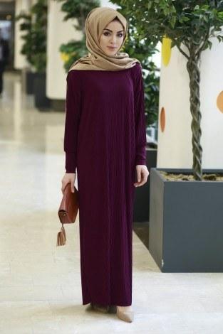 SBH Boydan Piliseli Elbise 8380-4 - Thumbnail