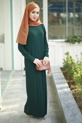 SBH Boydan Piliseli Elbise 8380-5 - Thumbnail