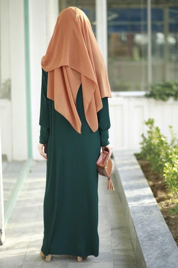 SBH Boydan Piliseli Elbise 8380-5