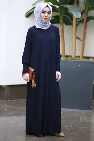 SBH Boydan Piliseli Elbise 8380-6 - Thumbnail