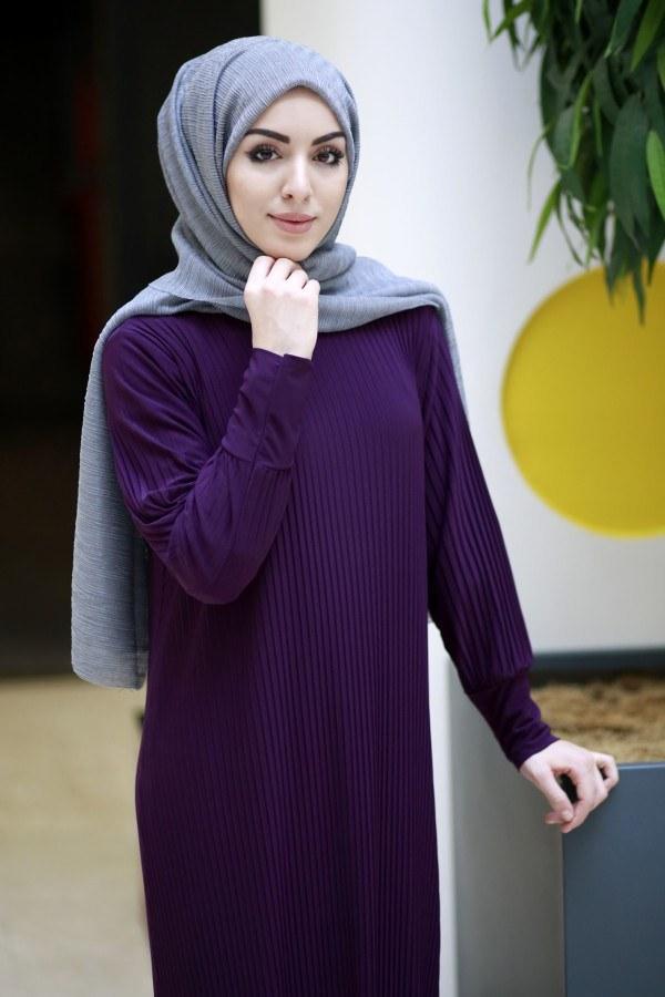 SBH Boydan Piliseli Elbise 8380-7