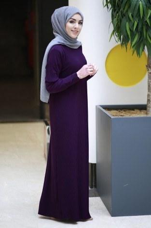 SBH Boydan Piliseli Elbise 8380-7 - Thumbnail