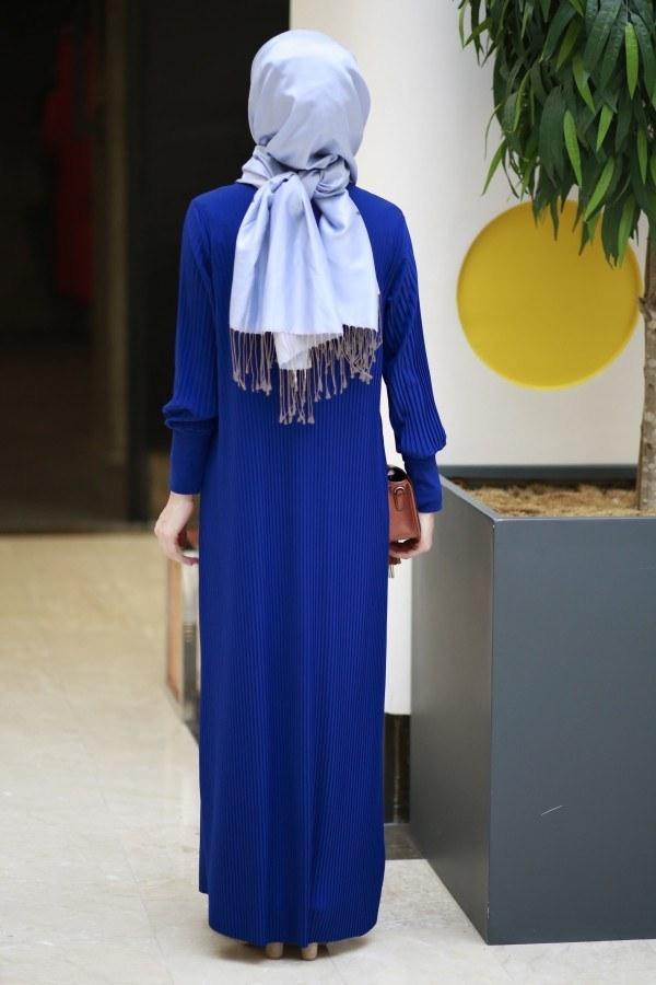 SBH Boydan Piliseli Elbise 8380-8