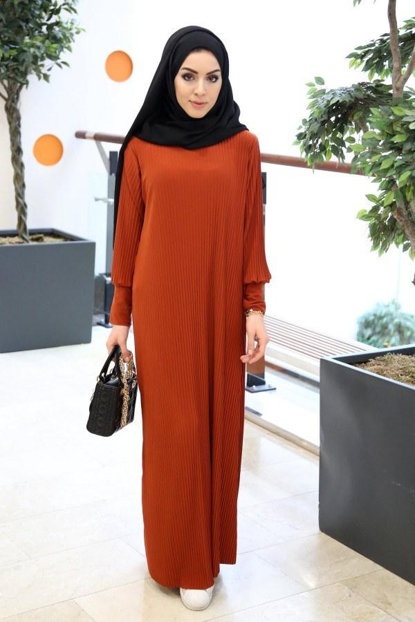 SBH Boydan Piliseli Elbise 8380-9