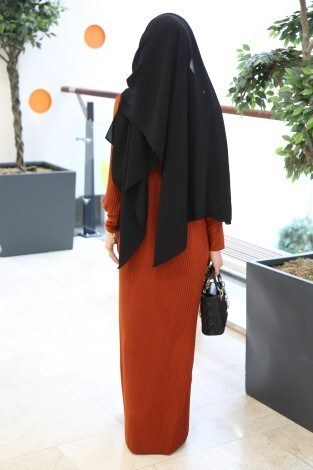 SBH Boydan Piliseli Elbise 8380-9 - Thumbnail