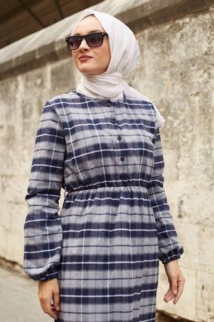 - SBH Oduncu Desen Elbise 1263-1 Gri (1)