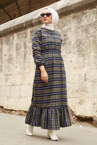 - SBH Oduncu Desen Elbise 1263-2 Haki