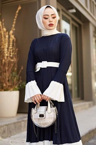 - SBH Piliseli Sandy Elbise 8994-7 Lacivert (1)
