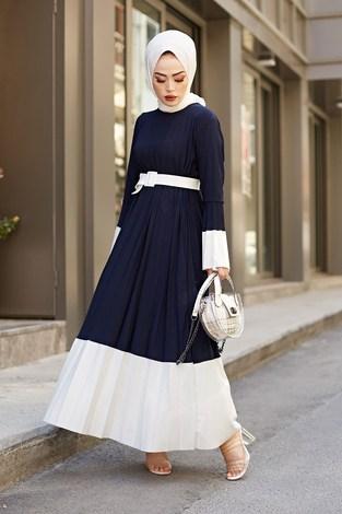 - SBH Piliseli Sandy Elbise 8994-7 Lacivert