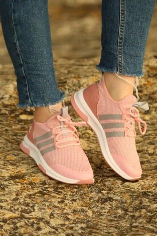 - Şeritli Spor Ayakkabı 6234-1