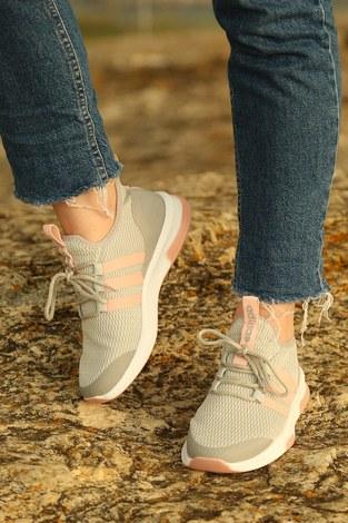 - Şeritli Spor Ayakkabı 6234-2