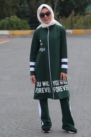 - Şeritli Tarz Eşofman Takımı 99197-5