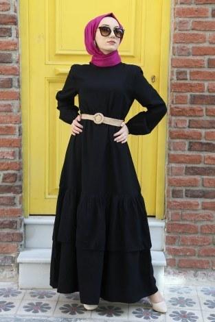 - Hasır Kemerli Elbise 2563-01