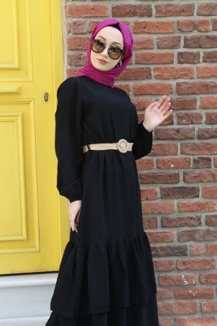 - Hasır Kemerli Elbise 2563-01 (1)