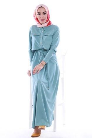 - Şık Tesettür Elbise 8201-05