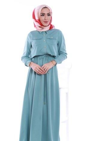 - Şık Tesettür Elbise 8201-05 (1)