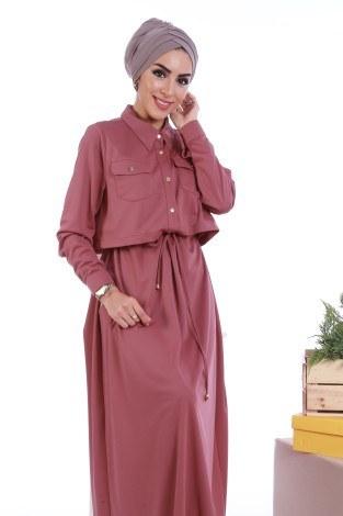 - Şık Tesettür Elbise 8201-07 (1)