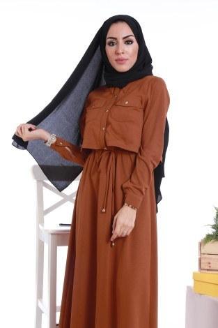 - Şık Tesettür Elbise 8201-10 (1)